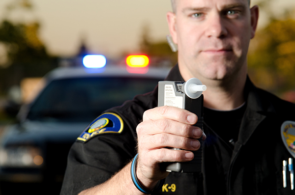 Test d'alcoolémie accusations conduit facultés affaiblies